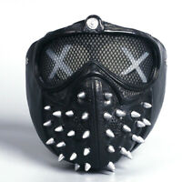 Watch Dogs 2 Mask Marcus Wrench LED Light Rivet Face Mask Cosplay Full Face Mask