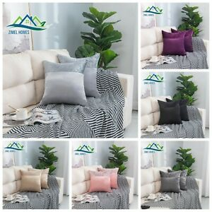 Luxury Crushed Velvet Band Cushion Covers Faux Silk 43X43 20X20 22X22 24X24 CM