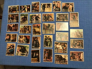 Walt Disney ZORRO Trading Cards LOT of 31 Plus 10 Doubles Good Condition 41total