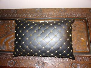 Juicy Couture Throw Pillows, black leather