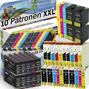 10x XL Tinte Patronen für Epson Expression Home Premium Stylus Office Workforce