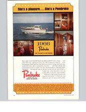 1966 PAPER AD Pembroke Boats Motor Boat 32 Cabin Cruiser Mercury Outboard Motor