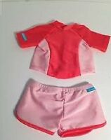 American Girl Doll CLOTHES SWIM SHIRT & SHORTS SET NEW in PKG Coral