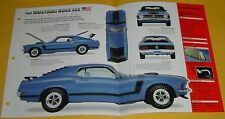 1970 Ford Mustang Fastback BOSS 302 ci 290 hp blue IMP Info/Specs/photo 15x9