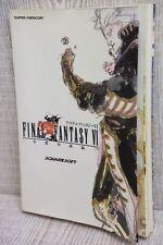 FINAL FANTASY VI 6 Basic Guide Book SFC NT00*
