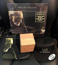 "WILLIE NELSON ""Last Man Standing"" EXCLUSIVE Bundle Items (LP,Hat,T-Shirt,Glass)"