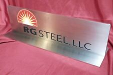 """Rg Steel, Llc * Stainless Steel * Sign, Plaque, Book End, Paper Weight 17""""x5x5"""