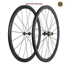 SUPERTEAM Carbon Fiber Cycling Wheelset 23mm Width 38mm Tubular Wheels R13 Hubs