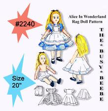 "#2240 *Alice In Wonderland* 20"" Rag Doll Pattern"