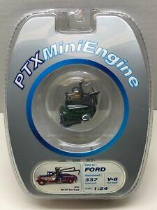 PTX MINI ENGINE 1934 FORD BB-157 TOW TRUCK 1:24 337 CUBIC INCH V-8 FLAT HEAD