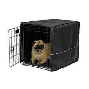 """Black Privacy Dog Crate Kennel Small 24"""" Cage 'COVER ONLY' Protection Pets Quiet"""