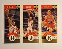 1997 Upper Deck Jordan MVP, Harper,  Kerr 3 person card #B1
