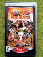 Worms: Open Warfare (Sony PlayStation Portable, PSP, Region Free, Complete)