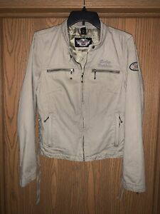 WOMEN'S HARLEY DAVIDSON EMBROIDERED LOGO LACED SIDES RIDING JACKET M !! MINT !!