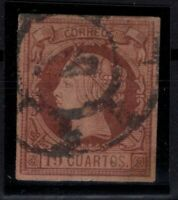 P133222/ SPAIN – ISABELLA II – EDIFIL # 54 USED + SIGNED – CV 2300 $