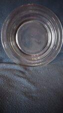 """Hazel Atlas - """"Moderntone"""" crystal (4) dinner plates"""