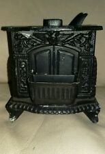 ANTIQUE CAST IRON CW HAMILTON FIREPLACE STOVES SALESMAN SAMPLE STOVE REPAINT