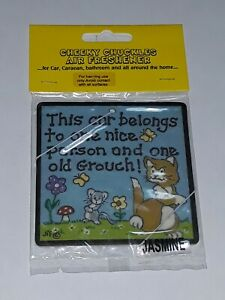 Car air freshener this belongs to one nice person old grouch funny Novelty