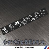 Domo JDM racing 40 cm - autocollants Stickers adhésifs pour voitures