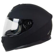 M L XL PGR ST01 MATTE BLACK Motorcycle Full Face Helmet DOT Street Bike