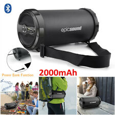 2000mAh Bluetooth Portable Speaker Power Bank Tube for iPhone iPad Smartphone