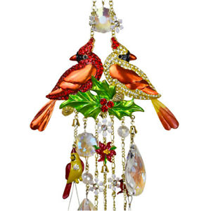 Kirks Folly Cardinal Memories Wind Chime With Removeable Snowflake Shimmer gt