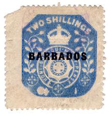 (I.B) Barbados Revenue : Duty Stamp 2/- (die I)