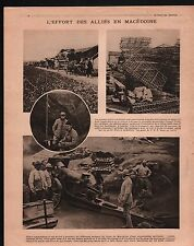 WWI Poilus British Army Poilus Tranchées Trenches Macedonia 1917 ILLUSTRATION