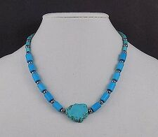 new TURQUOISE NECKLACE SILVER CLASP collectible JEWELRY PENDENTS CLOTHING GIFT