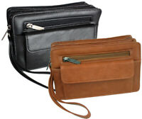 Herren Tasche Handgelenktasche Businesstasche Handtasche  Männer Doppelkammer