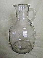 WHITE HOUSE VINEGAR PITCHER VINTAGE DAIRY ESTATE FIND 67-9-8 GLASS HANDLE LEAF.