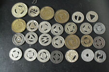 Lot of 27 Vintage Ptc Philadelphia and Other Bridge Trolley Tokens