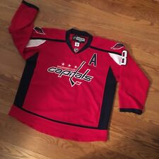Vintage Reebok Washington Capitals Ovechkin Jersey Size 52 with Fight Strap Rare