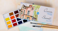 24 Watercolor Paint Set Artists SONNET Full Pan St.Petersburg RUSSIA Russian