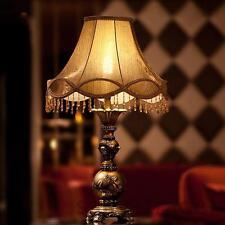 Floral Resin Vintage Antique Elegant Table Lamp Bedside Desk Light Home Cafe