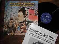 SONGS OF THE OPEN ROAD GYPSIES TRAVELLERS  COUNTRY SINGERS RARE FOLK TOPIC 1975