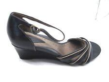 Clarks Artisan 40 9M black wedges womens ladies comfort sandals shoes 84256