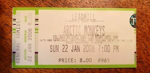 ARCTIC MONKEYS WHATEVER PEOPLE ALBUM LAUNCH GIG TICKET LEADMILL SHEFFIELD 220106