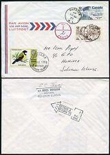 Islas Salomón franqueo de Canadá Nueva Escocia.. pájaro retorno franqueo 1978