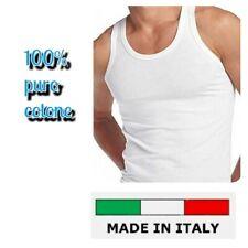 SET 5 CANOTTE UOMO SPALLA LARGA GOLDEN LINE 100% COTONE MADE IN ITALY VOGATORE