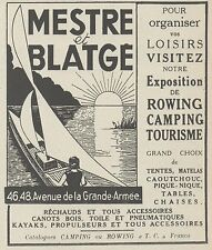 Z9973 MESTRE & BLATGE - Tourisme - Camping -  Pubblicità d'epoca - 1937 Old ad