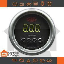 "SAAS 52mm 2"" Digital Turbo Timer Black Dial Face + Fitting Kit"