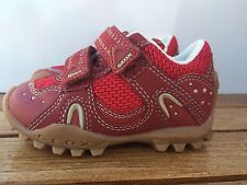 Geox Sneakers RED Leather AND MESH  Sneakers/Shoes  Little Boys Size  5 1/2