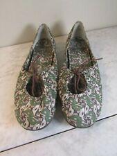 Palladium Brown/Green Tie Front Espadrille Slip On Flat Shoes Women's 8 EU 39