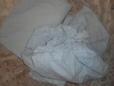 RALPH  LAUREN  FULL  FLAT  SHEET  +  FULL FITTED  BLUE /WHITE  CHECK GINGHAM