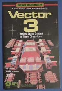 Vector 3 : Tactical Space Combat in 3 Dimensions. Space Capsule #4 1979 SPI