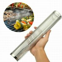 6/12'' Smoker Tube BBQ Wood Pellet Smoke Box Charcoal Gas Grill Grilling Meat