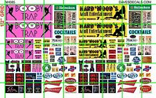 NH085 DAVE'S DECALS 1/2 Set N SCALE BIZ SET HARD WOOD BOOBY TRAP STRIP CLUB AD