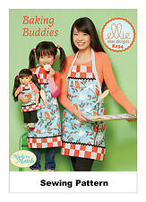 "Kwik Sew K234 PATTERN - MISSES/Girls/18""DOLL Aprons - Brand New - SML - LRG"