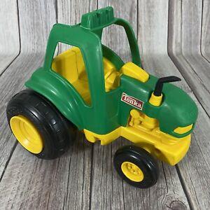 VTG 1992 Tonka Tractor Green Yellow Plastic Play Toy Farm Vehicle John Deere